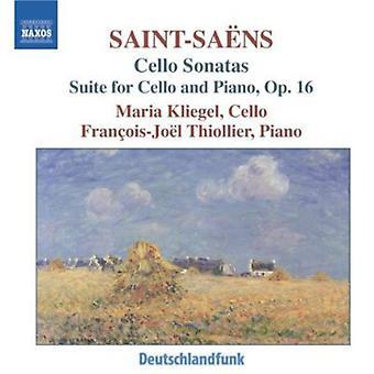 C. Saint-Saens-Saint-Sa Ns: Cello Sonatas; Svit för Cello och Piano, Op. 16 [CD] USA import