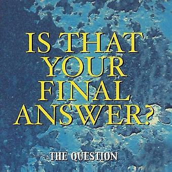 Question - Is That Your Final Answer? [CD] USA import