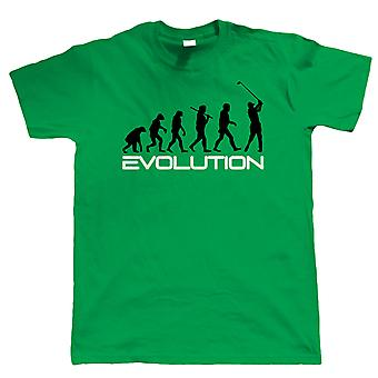 Evolution of Golf, Mens Funny Tshirt