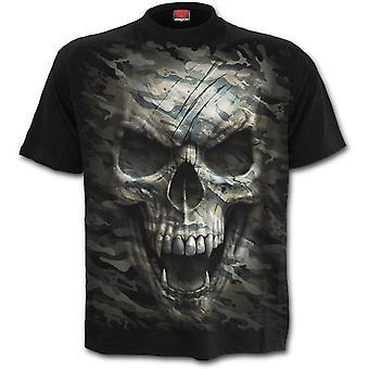 Spiral - CAMO SKULL - Men's Black Short Sleeve T-Shirt