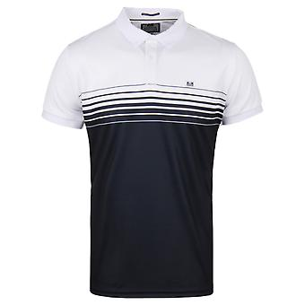 Weekend Offender Wolfram White & Navy Polo Shirt