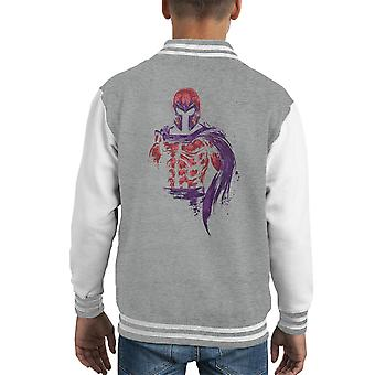 X Men magnetische Krieger Magneto Kid Varsity Jacket