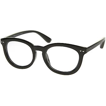 Classic Retro Casual Frame Horn Rimmed Oval Clear Lens Glasses 47mm