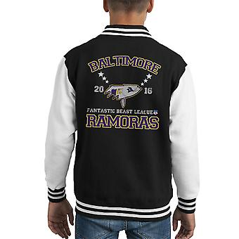 Fabeldieren League Baltimore Ramoras Kid's Varsity Jacket
