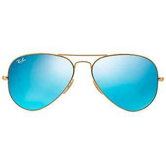 Ray Ban AVIATOR Sunglasses Gold Lens Color Blue Mirrored (Mode-accessoires , Zonnebril)