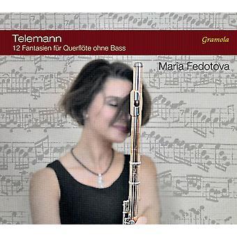 Telemann / Fedotova - Telemann: 12 Fantasias for fløjte uden bas [CD] USA import
