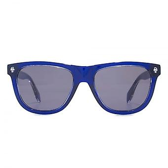 Alexander McQueen Ghost Skull Retro Style Sunglasses In Blue