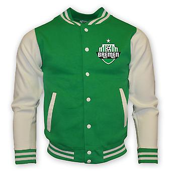 Werder Bremen College Baseball Jacket (green)