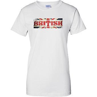 Name-Markierungsfahne britischen Grunge Effekt - Union Jack - Damen-T-Shirt