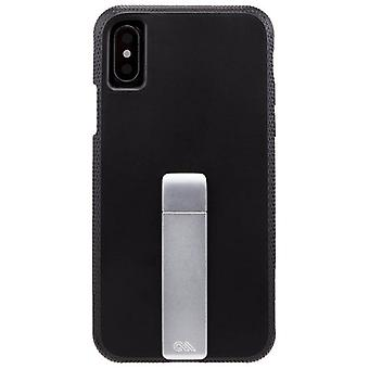 Case-Mate Tough Stand iPhone Case X - Black/Silver