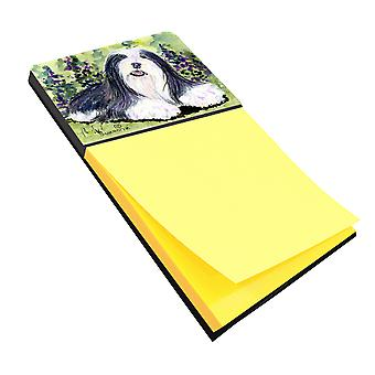 Bearded Collie Refiillable Sticky Note Holder or Postit Note Dispenser