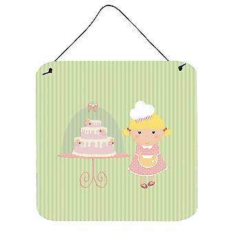 Puerta colgante o torta panadero Rubio pared verde impresiones