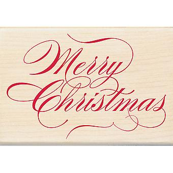 Inkadinkado Christmas Mounted Rubber Stamp   Merry Christmas I6000863