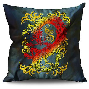 Fantasy Dragon Mystical Linen Cushion Fantasy Dragon Mystical | Wellcoda