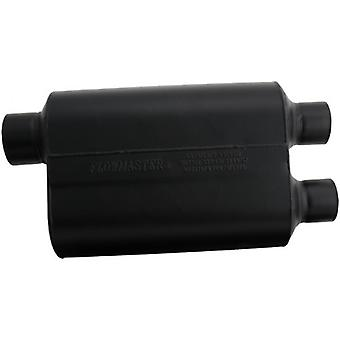 Flowmaster 9530462 Super 40 Muffler - 3.00 Offset IN / 2.50 Dual OUT - Aggressive Sound
