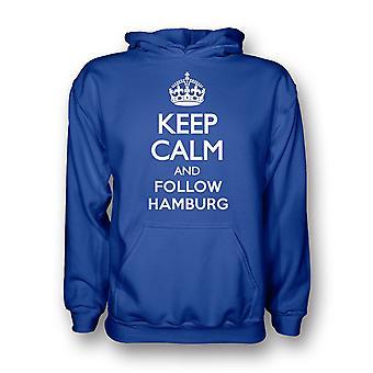 Keep Calm And Follow Hamburg Hoody (blue)