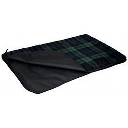 Black Watch Tartan Country Dog Fleece Blanket With Waterproof Backing-small