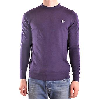 Fred Perry Herren MCBI128178O Violett Wolle Sweater