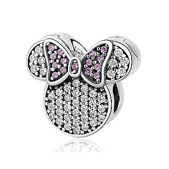 Sterling silver charm Minnie mouse PSC052