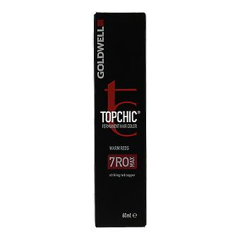 Goldwell Topchic rouges chaleureux 7RO Max Permanent Hair Color 60ml