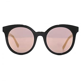 Stella McCartney Falabella Round Cateye Sunglasses In Black Pink Mirror