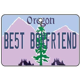 Oregon - Best Boyfriend License Plate Car Air Freshener