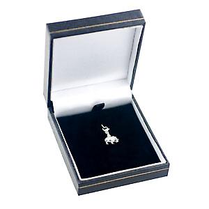 Silver 7x10mm Indian Elephant charm on lobster trigger