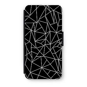iPhone 6/6s Flip Case - Geometric lines white