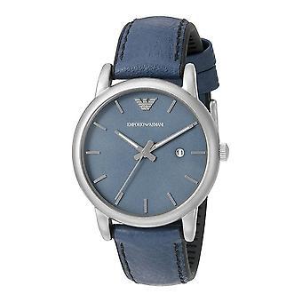 Emporio Armani męskie nadgarstka zegarek niebieski skórzany pasek Dial AR1972