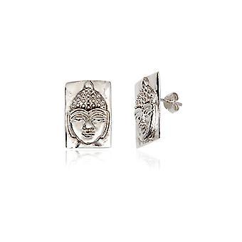 Buddha in Silber 925 Ohrringe
