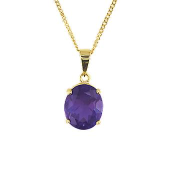 Shipton and Co Ladies Shipton And Co 9ct Yellow Gold And Amethyst Pendant Including A 20 9ct Yellow Gold Chain PY1085AM