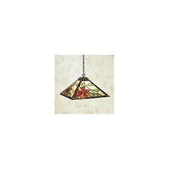 Interiors 1900 SU02 + TG103SHM Leleani Tiffany Glass Pendant