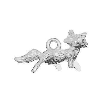 Packet 8 x Antique Silver Tibetan 22mm Fox Charm/Pendant ZX04765