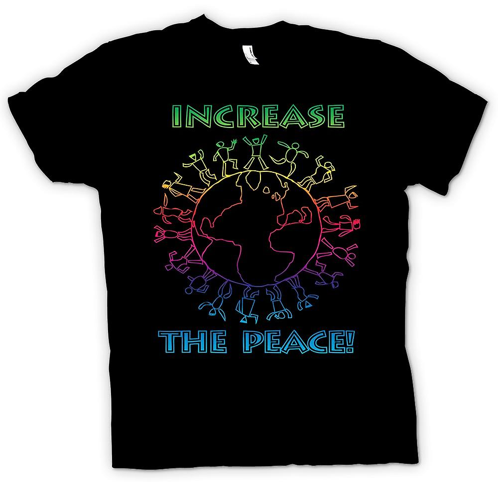 Mens T-shirt - Increase The Peace - Anti War