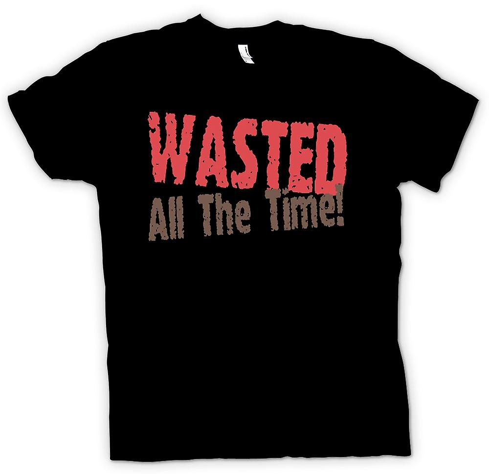 Mens T-shirt - Wasted All The Time