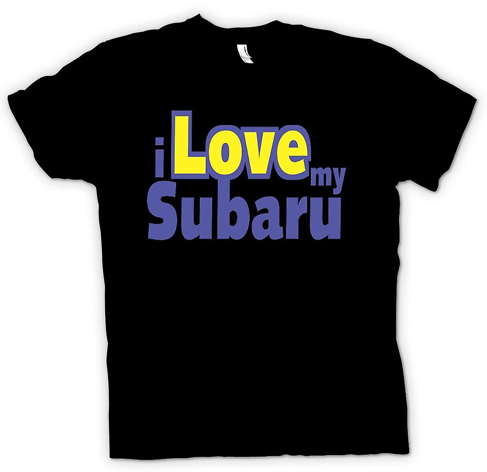 Womens T-shirt - I Love My Subaru - Car Enthusiast