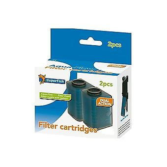 Superfish Aquarium Filter Aqua-Flow 100 Easy Click Cartridge x 2