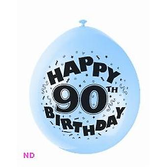 "Balloons 'HAPPY 90th BIRTHDAY' 9"" Latex Balloons (10)"
