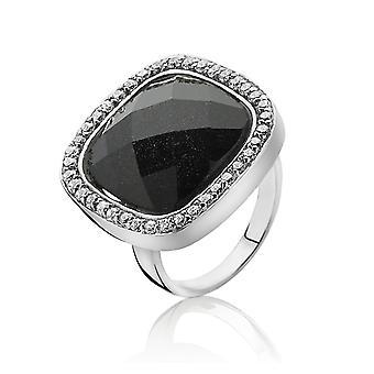 Orphelia plata 925 anillo cristal arenisca azul circonio ZR-3906