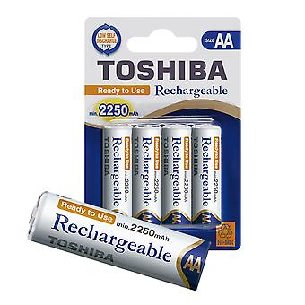 TOSHIBA AA Rechargeable haute capacité Batteries Ni-MH min. 2250 mAh