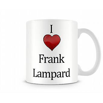 Me encanta Frank Lampard taza impresa