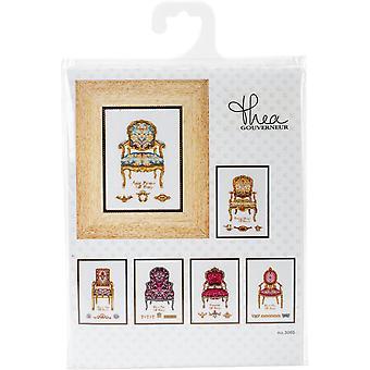 Six Chairs On Aida Counted Cross Stitch Kit-5.5