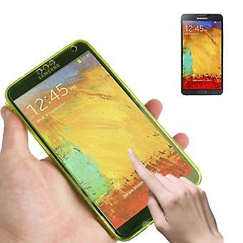 Handyhülle Flip Quer für Handy Samsung Galaxy Note 3 Gelb