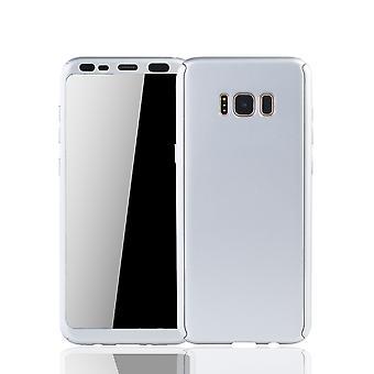 Samsung Galaxy S8 plus Rörlig Avsats Schutzcase full täckning 360 Visa skydd folie silver