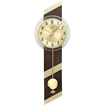 Quarzo con pendolo orologio da parete in legno vetro minerale cassa di orologio da parete in noce