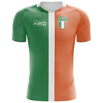 2018-2019 أيرلندا العلم مفهوم كرة القدم قميص (الأطفال)