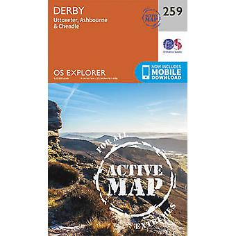 Derby Uttoxeter Ashbourne och Cheadle av Ordnance Survey