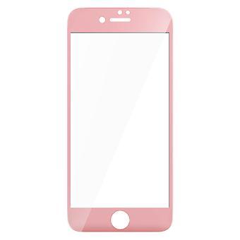 Herdet Glass skjermbeskytter for Eple iPhone 7, iPhone 8 - sjokkrosa kanter