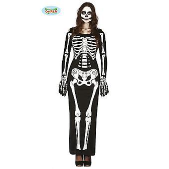 Skeleton costume jumpsuit women's, black Carnival of Halloween bones