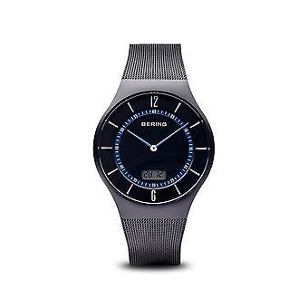 BERING - wrist watch - men's - radio controlled - black brushed - 51640-228